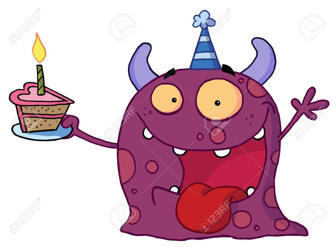 Purple Birthday Candle Clipart Spotted Purple Birthday