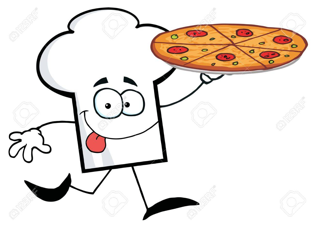 Pizza Chef Hat Cartoon Chefs Hat Character