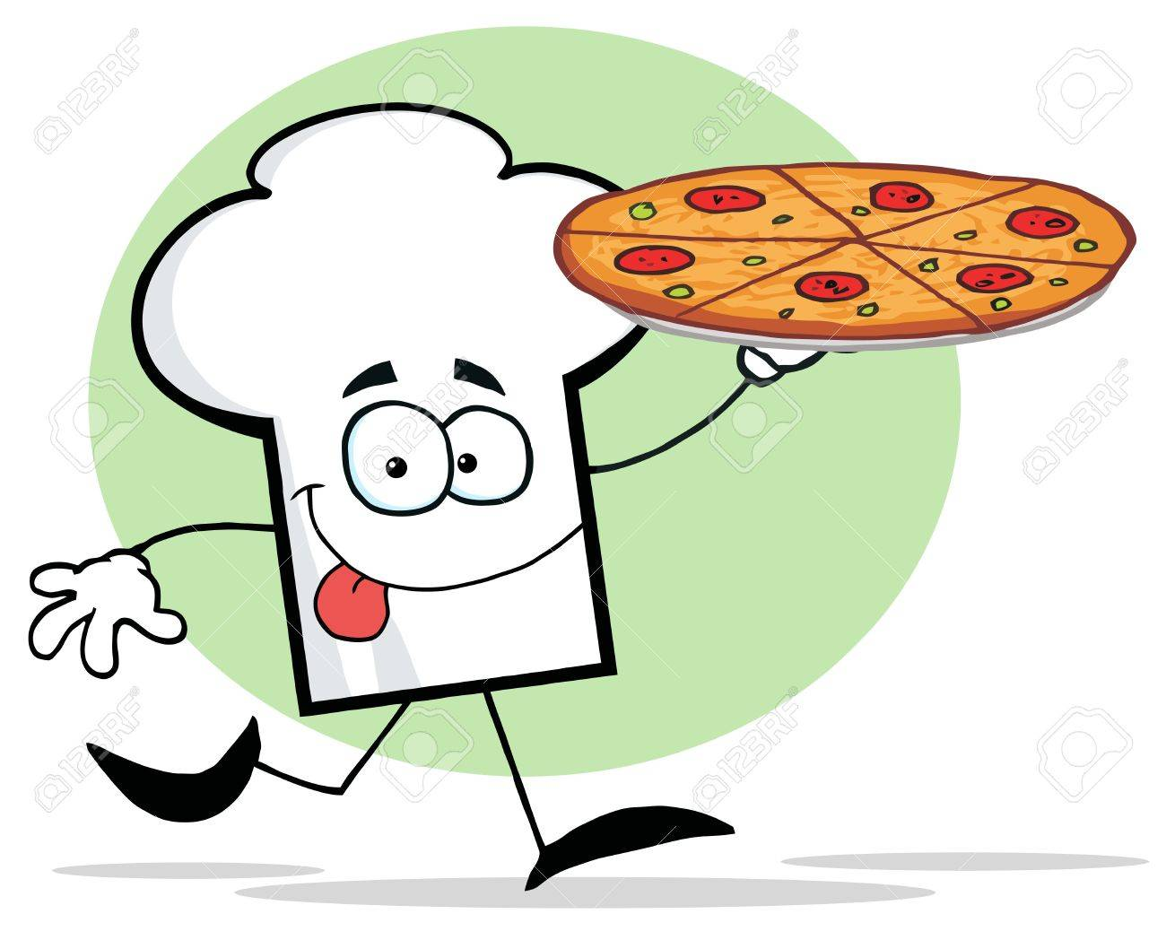 Pizza Chef Hat Chefs Hat Character Holding