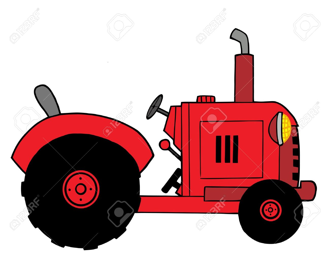 red farm tractor royalty free cliparts vectors and stock rh 123rf com