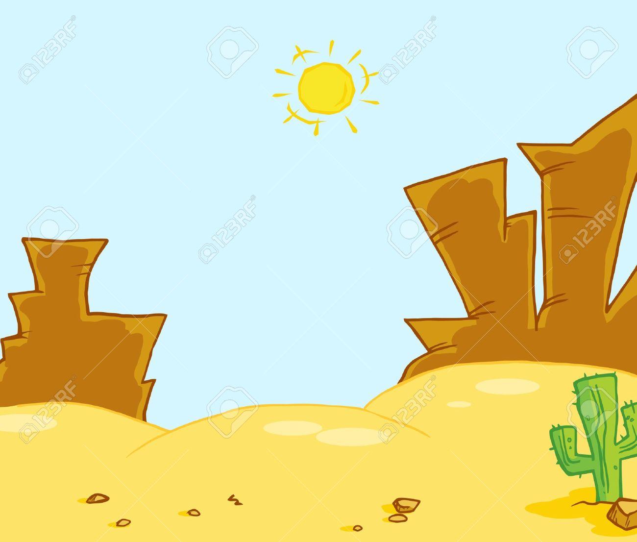 Western Landscape Illustration Stock Vector - 7267867