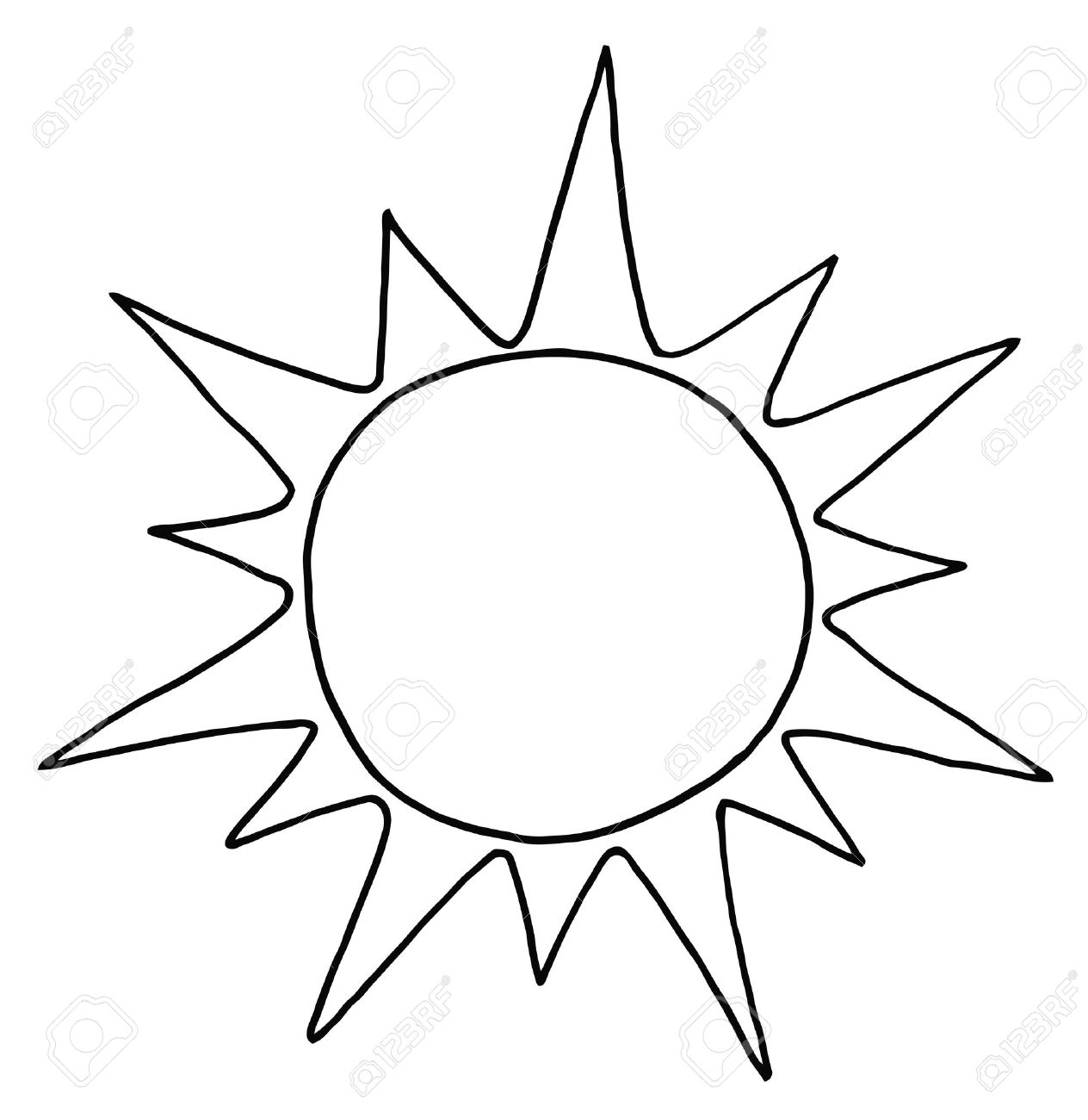 outlined summer sun royalty free cliparts vectors and stock rh 123rf com black and white sun clip art free black and white sun clip art free