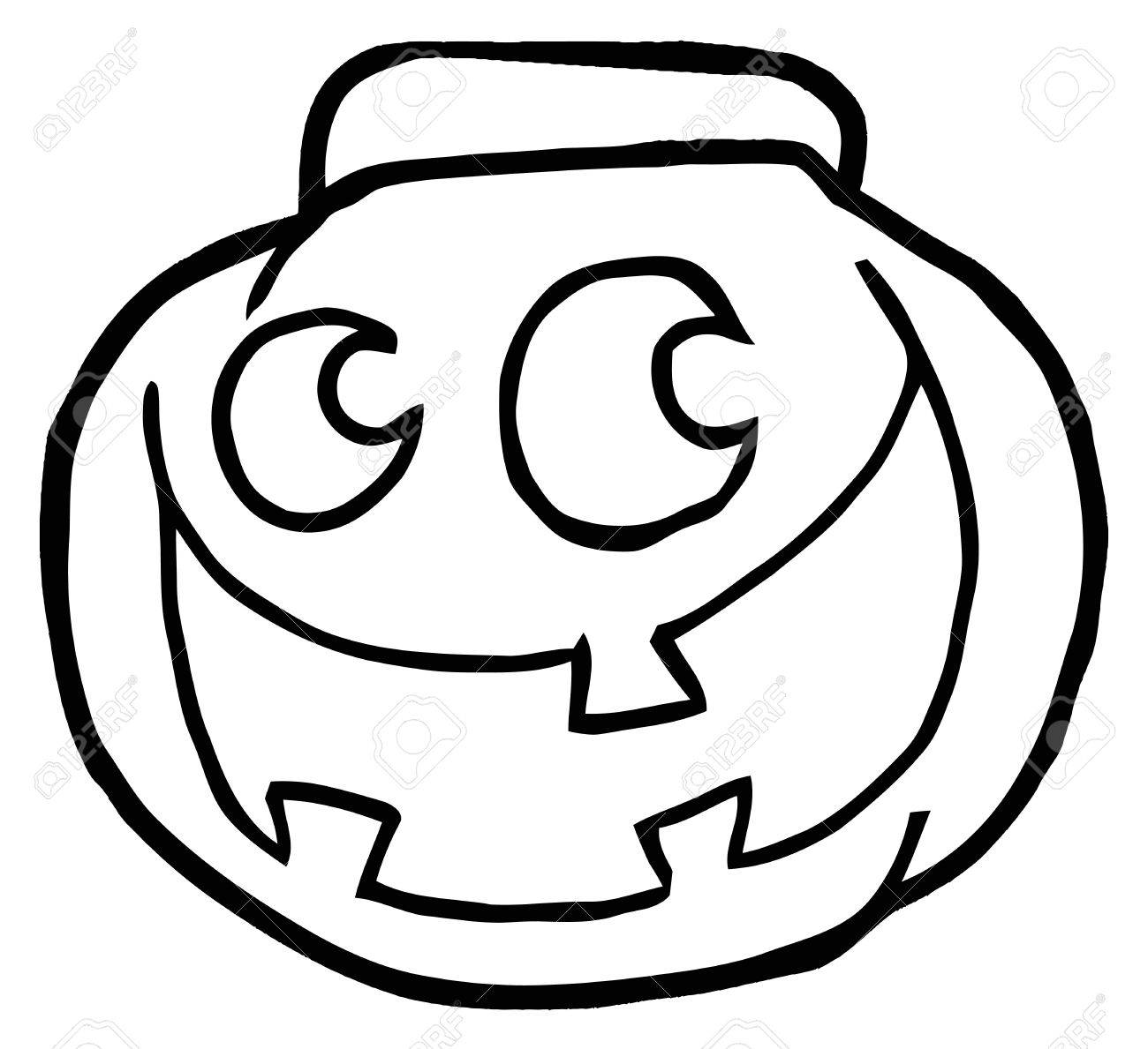 outlined happy jack o lantern pumpkin royalty free cliparts