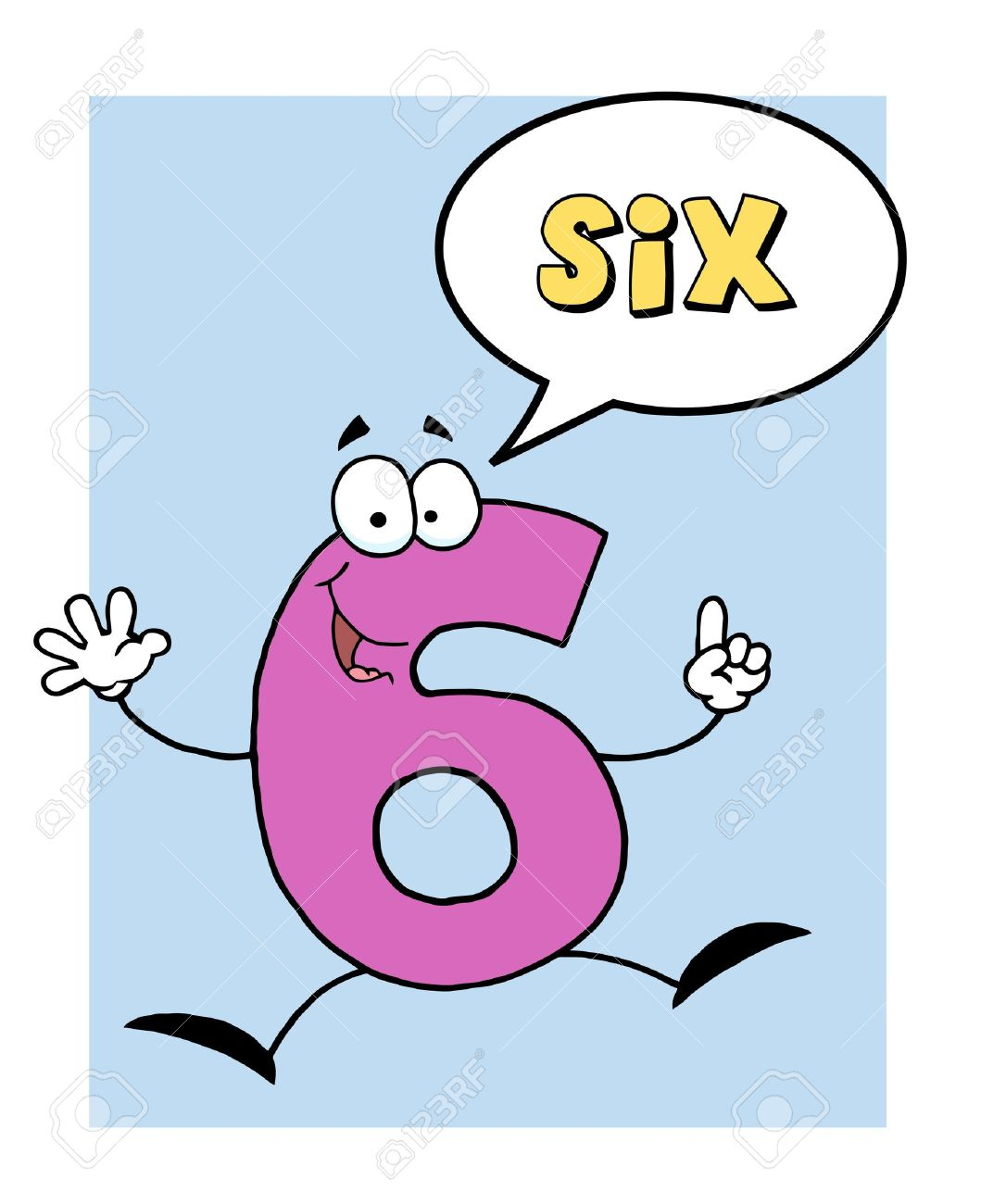 Number 6 Six Guy With Speech Bubble Stock Vector - 8284405