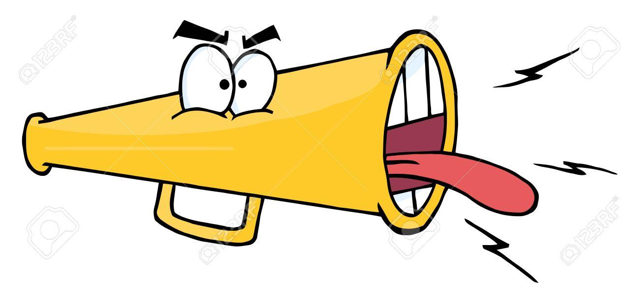 megaphone cartoon character screaming royalty free cliparts vectors rh 123rf com megaphone cartoon gif man with megaphone cartoon