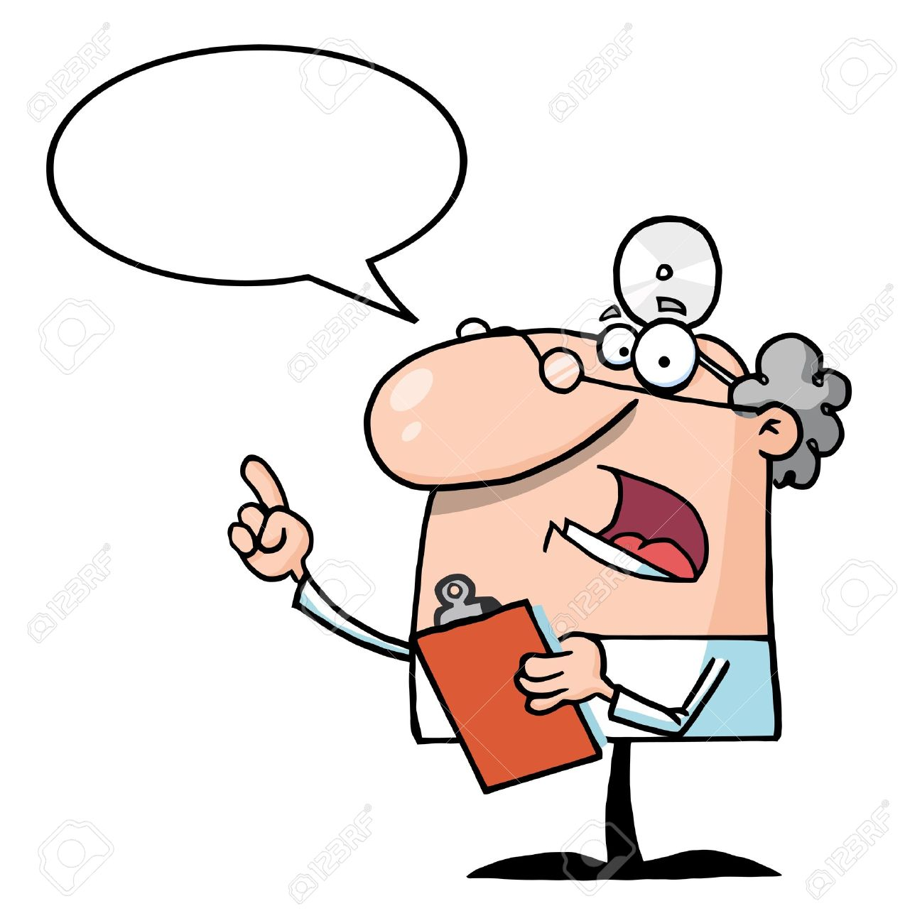 Doctor Holding A Clipboard With Speech Bubble - 8284477