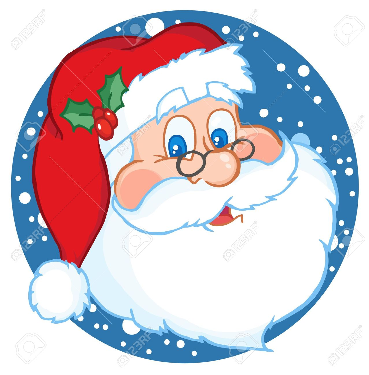 classic santa claus face royalty free cliparts vectors and stock rh 123rf com santa face clipart round cartoon santa face clip art