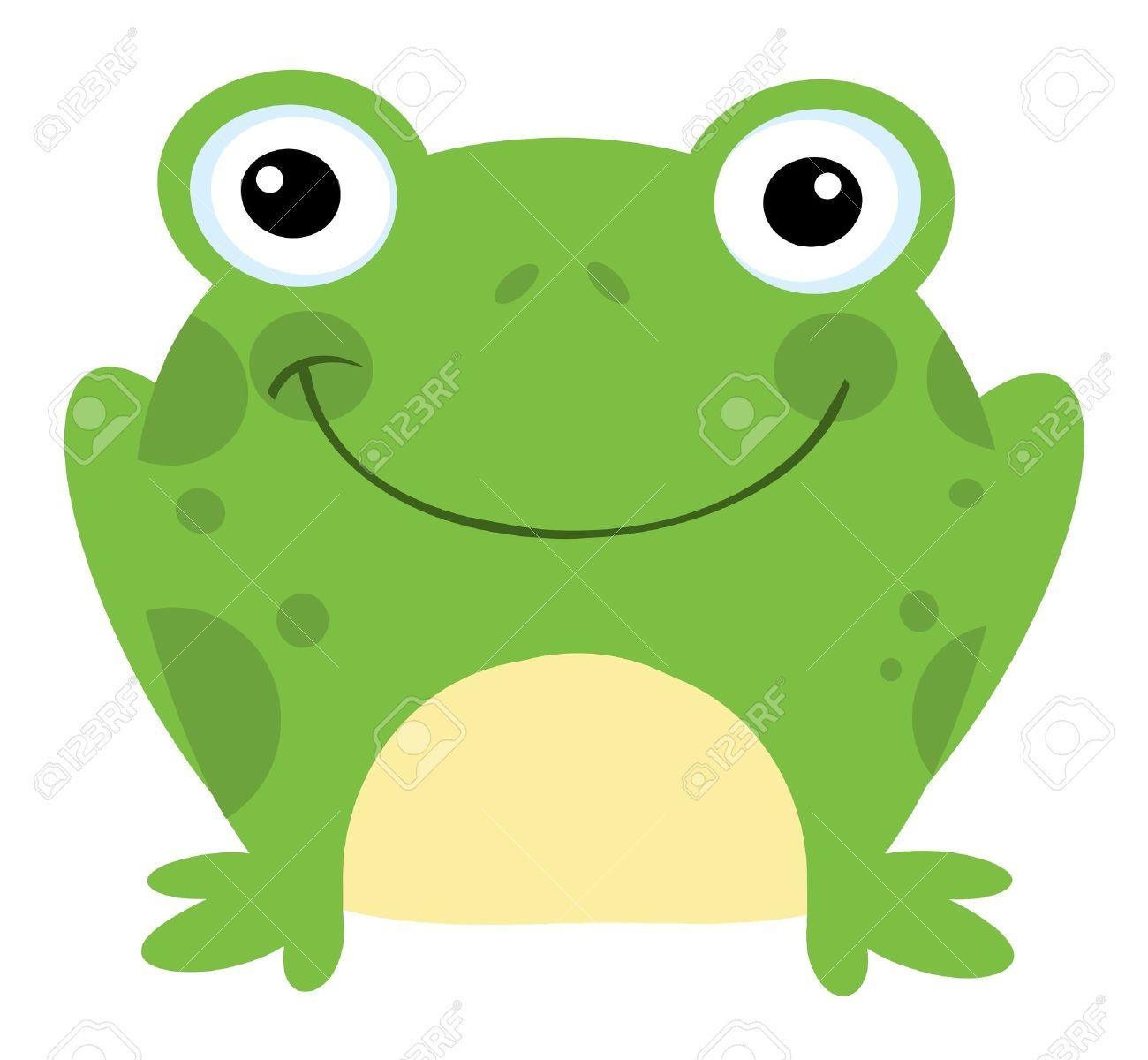 Head Frog Cartoon Character Stock Vector - 8930258