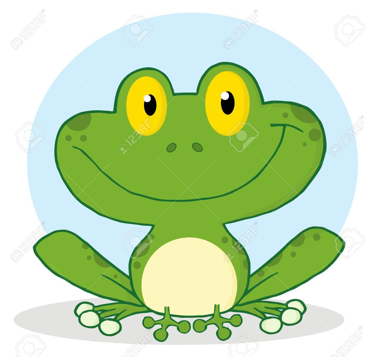 Smile Frog Cartoon Character - 8930304