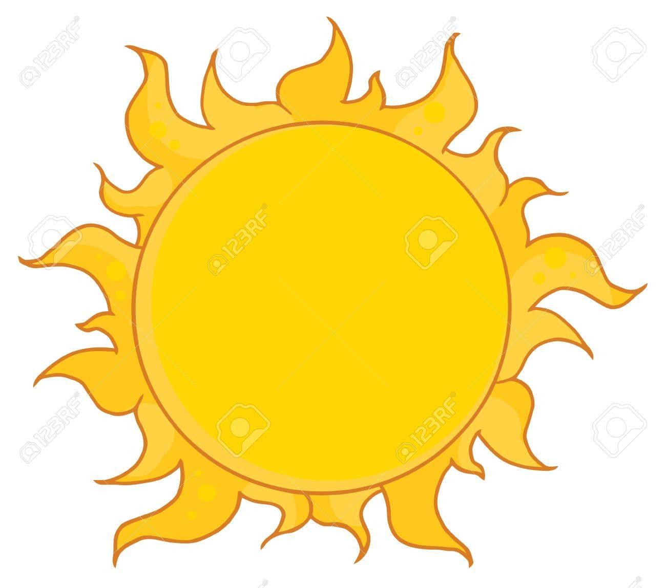 Yellow Sun Shining Stock Vector - 8930270