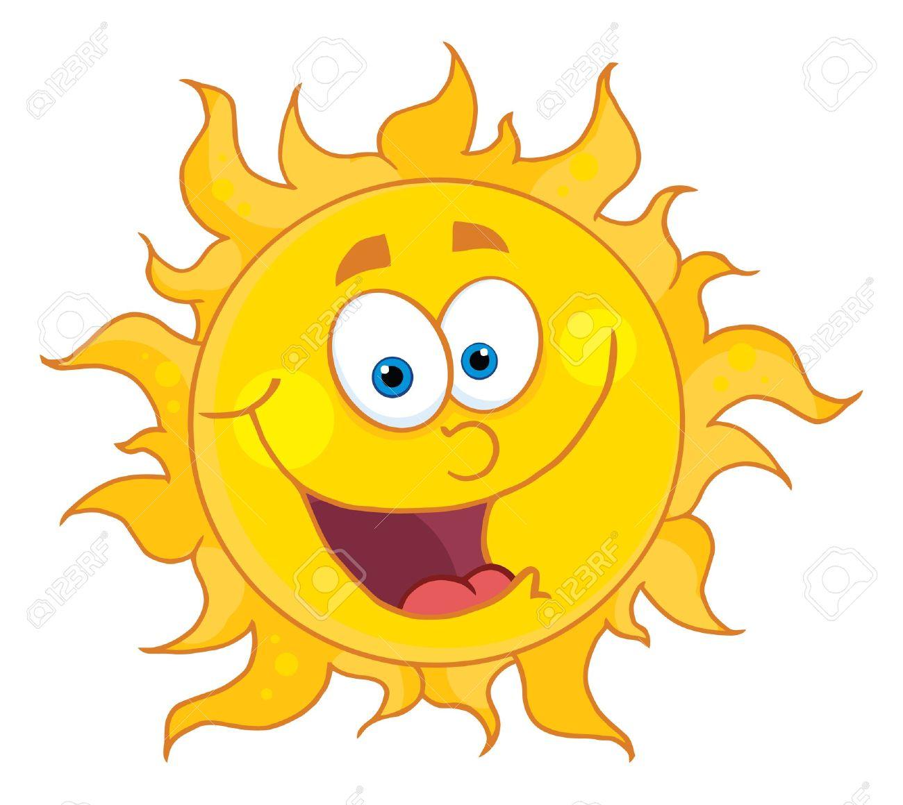 Sun Mascot Cartoon Character Stock Vector - 8930297