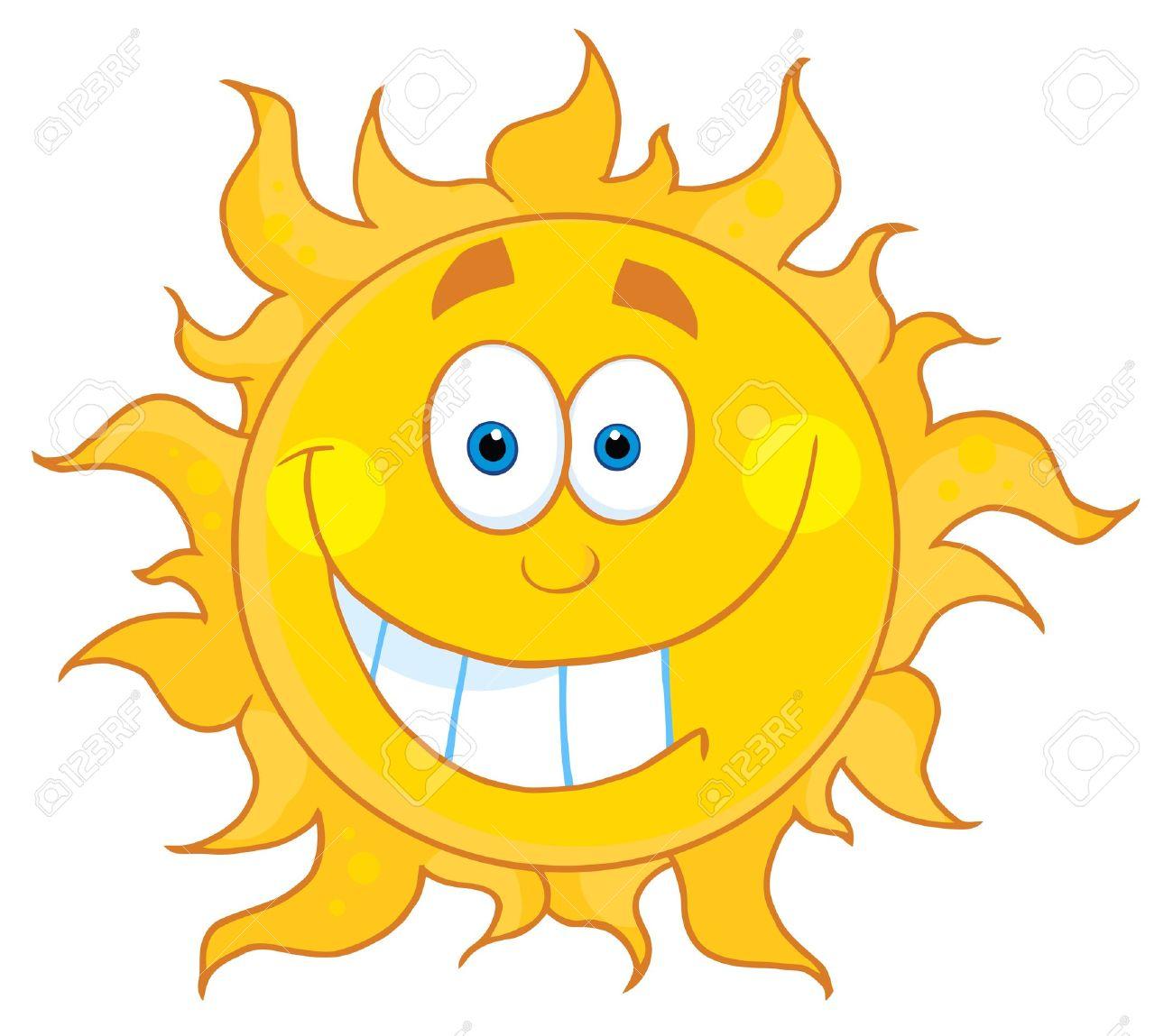 Happy Smiling Sun Mascot Cartoon Character Stock Vector - 8930293