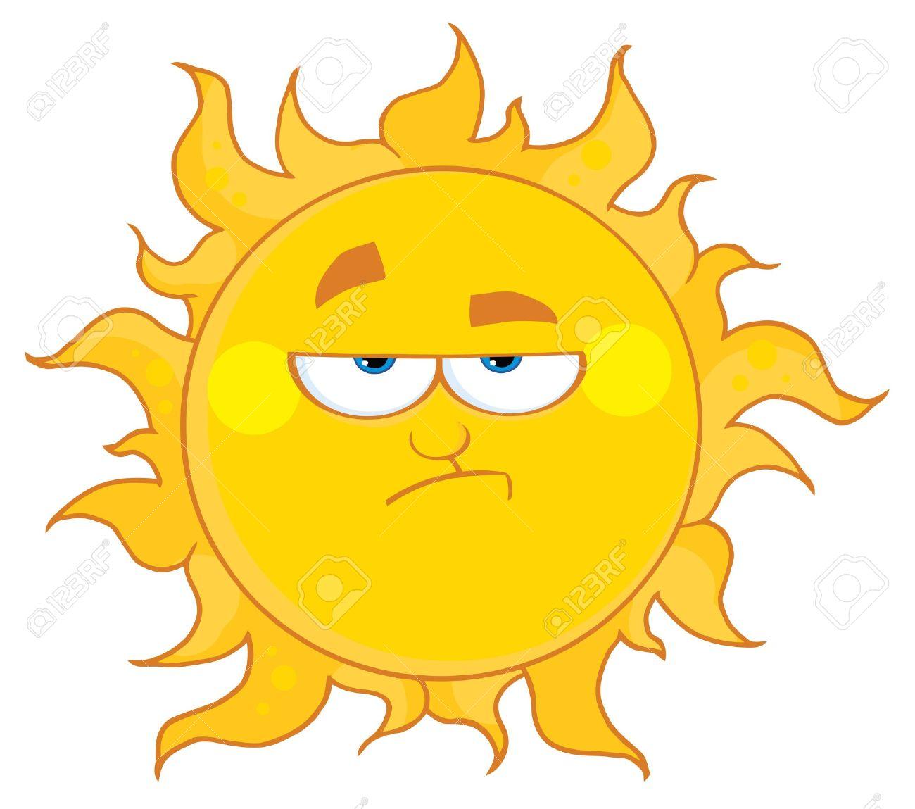 Lowering Sun Mascot Cartoon Character Stock Vector - 8930285