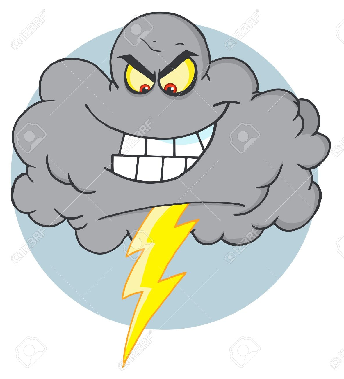 evil storm cloud with thunderbolt royalty free cliparts vectors rh 123rf com Snow Cloud Clip Art Snow Cloud Clip Art