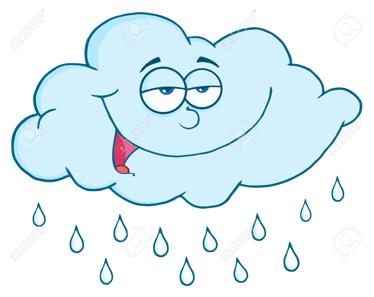 Cloud With RainDrops Stock Vector - 9152406
