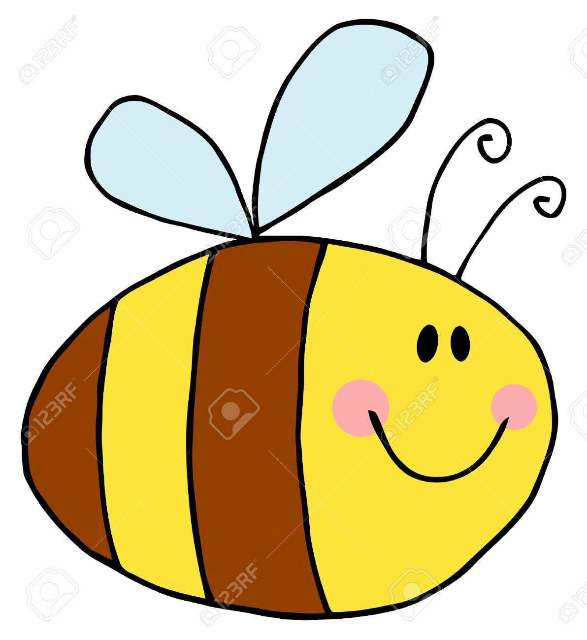 Flying Bee Cartoon Character Stock Vector - 9276555