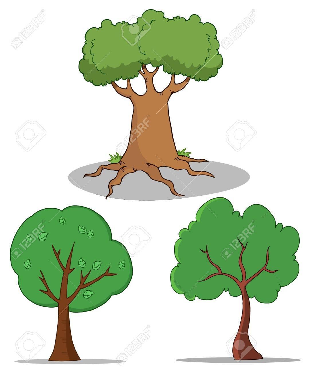 Set Of Cartoon Tree Stock Vector - 9398474