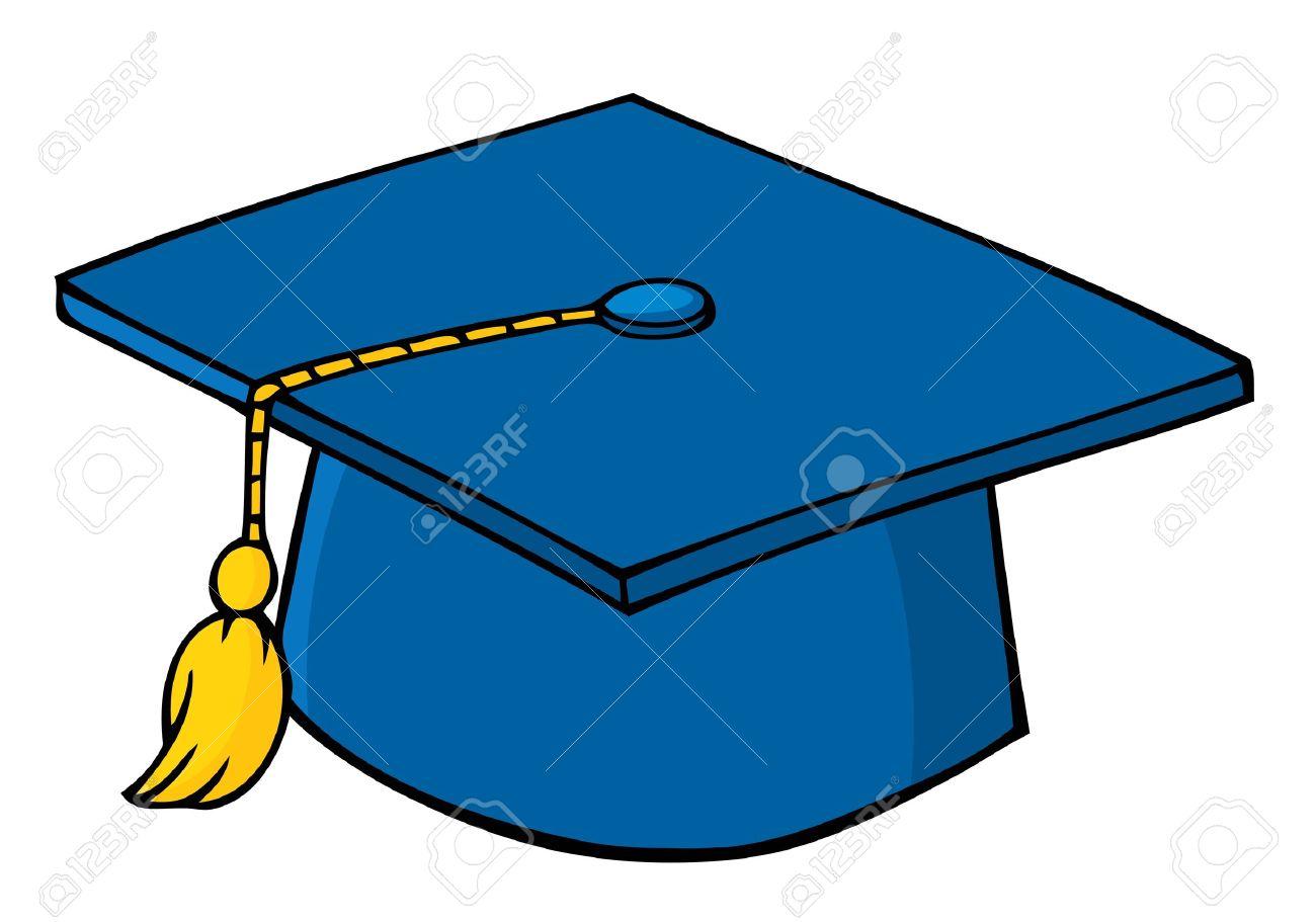 Blue Graduation Cap Stock Vector - 9634033