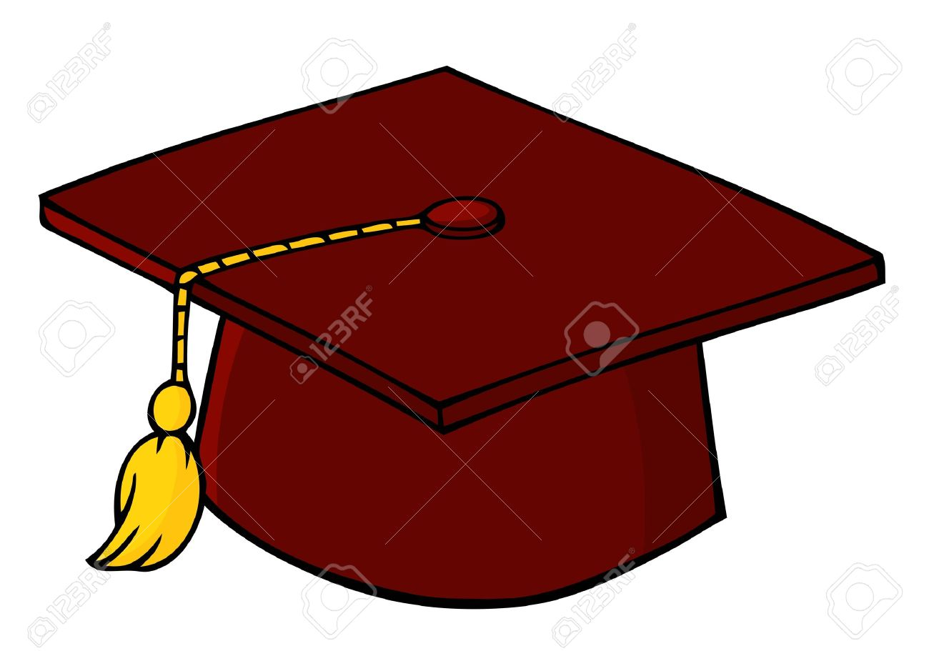 Red Graduation Cap Stock Vector - 9634032
