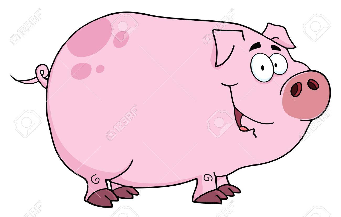 Cochon Dessin personnage de dessin animé de porc clip art libres de droits
