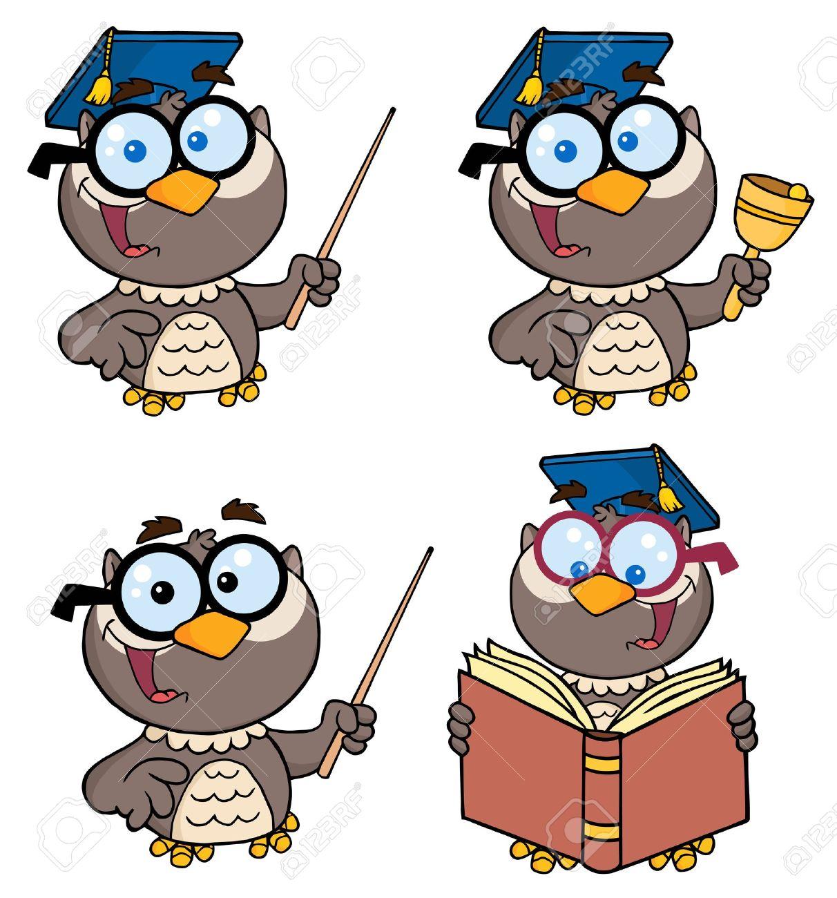 Owl Teacher-Vector Collection Stock Vector - 9789417