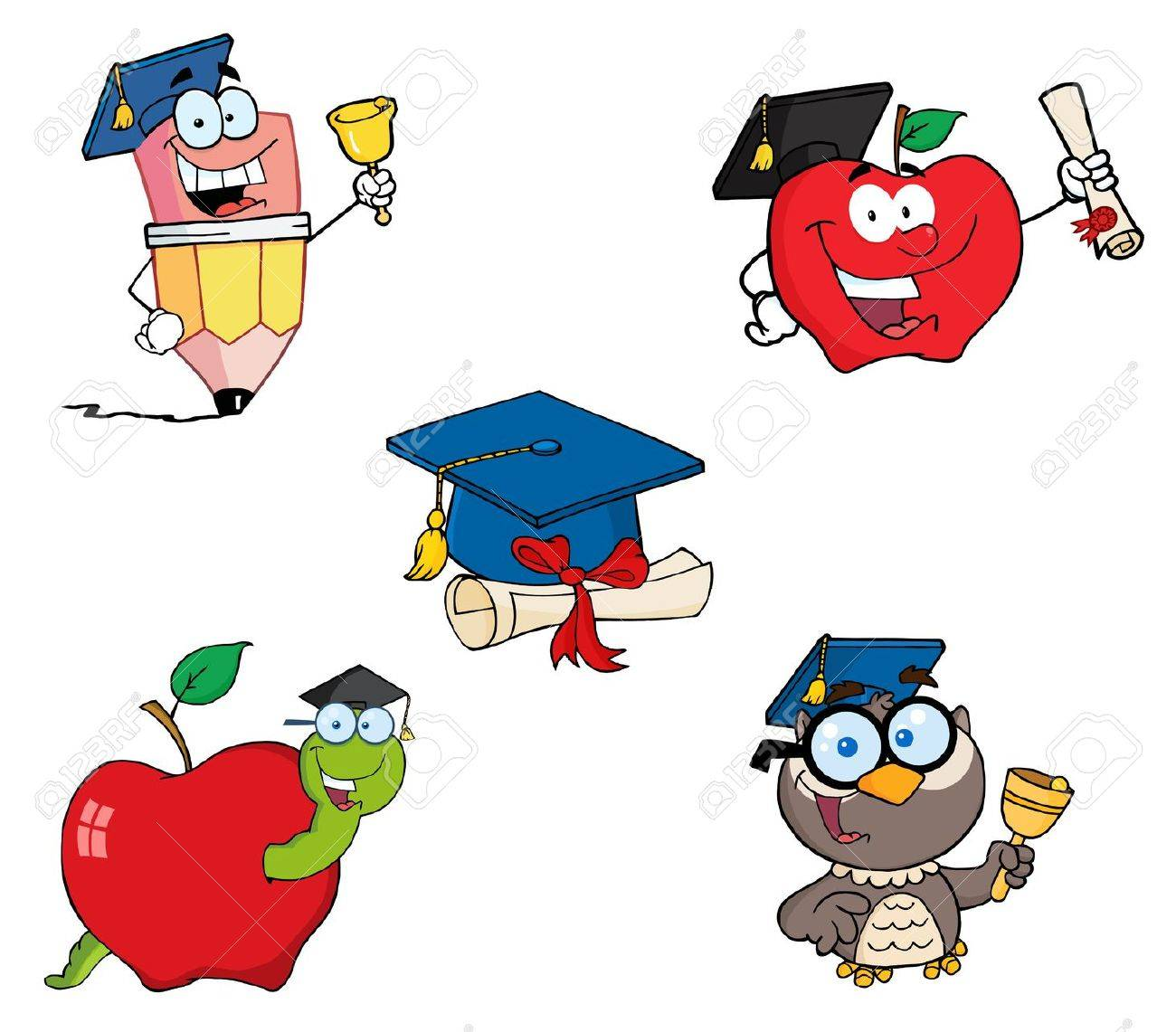Graduation-Vector Collection Stock Vector - 9789437