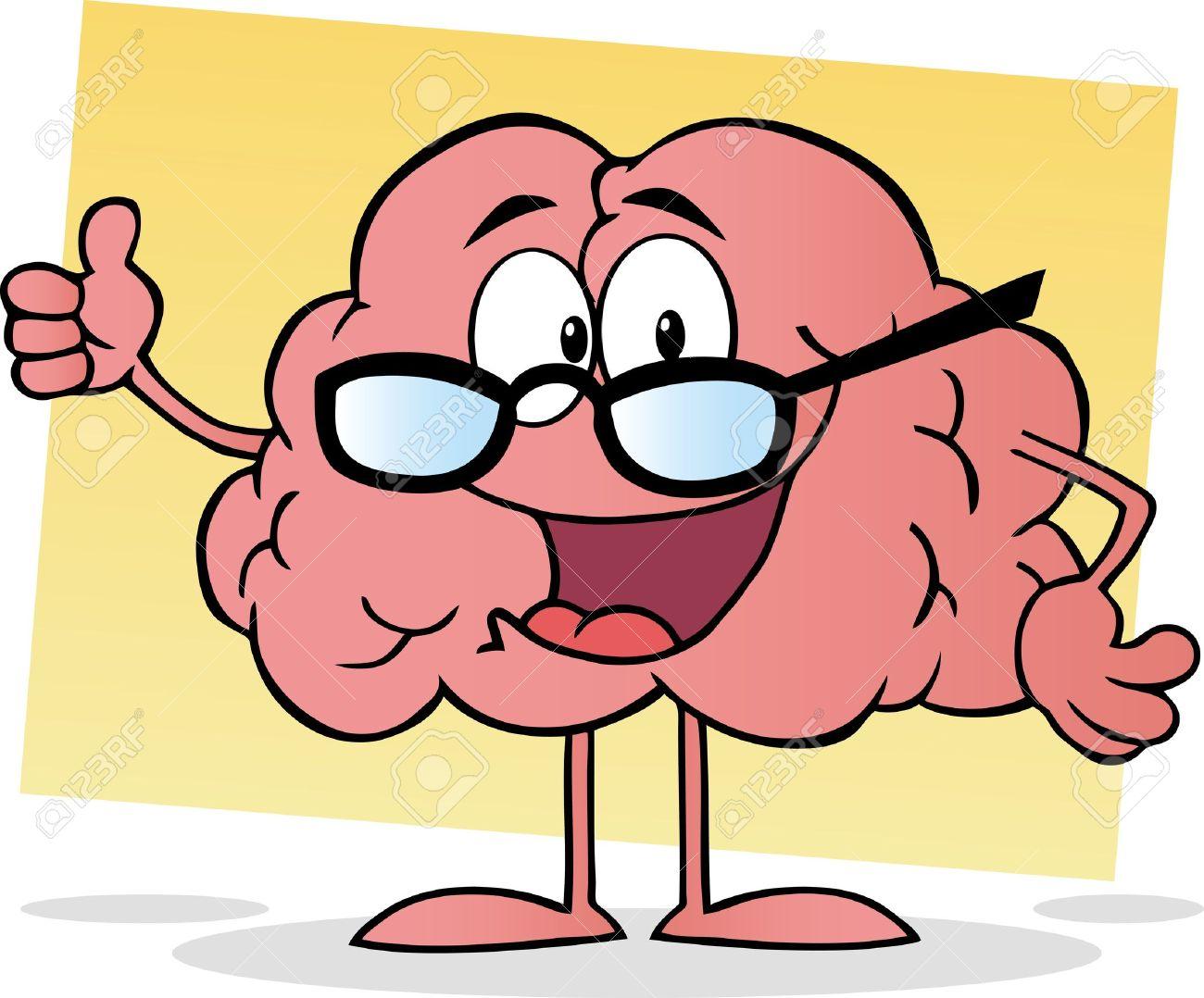 Cartoon Brain Giving The Thumbs Up Stock Vector - 10391654
