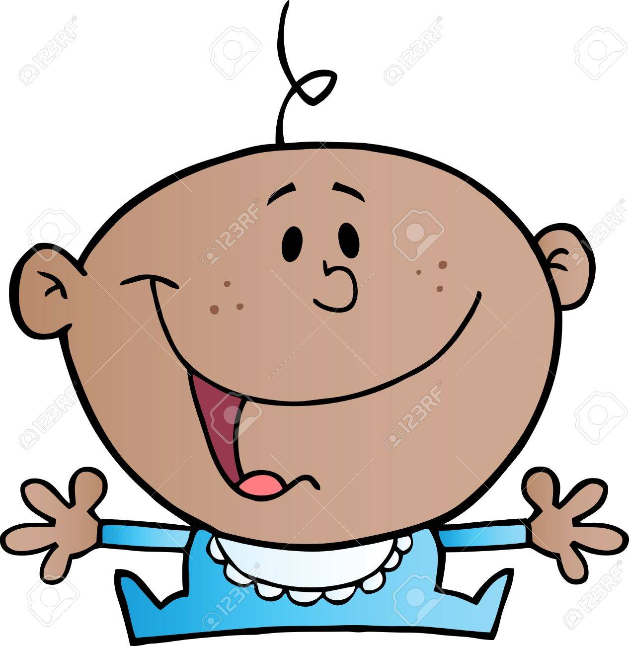 Happy African American Baby Boy Stock Vector - 10702933