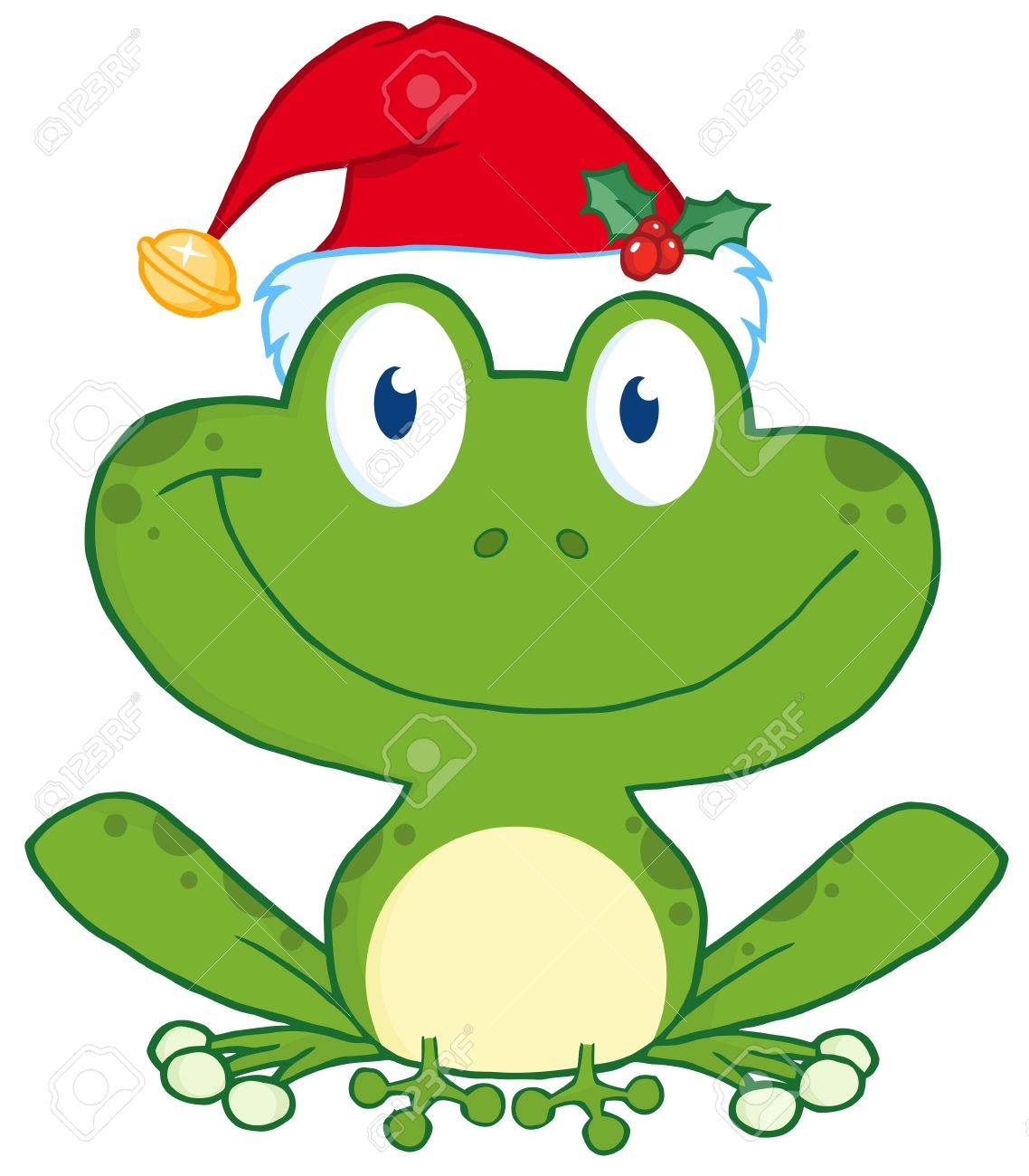 Happy Frog With Santa Royalty Free Cliparts, Vectors, And Stock Illustration. Image 11808054.