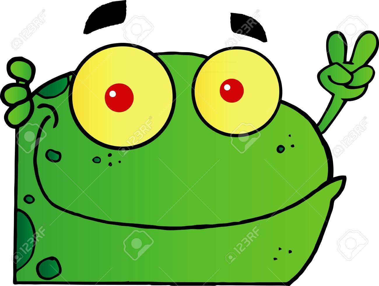 http://previews.123rf.com/images/chudtsankov/chudtsankov1201/chudtsankov120100043/12031260-Frog-Gesturing-The-Peace-Sign-With-His-Hand-Stock-Vector-cartoon-frog.jpg