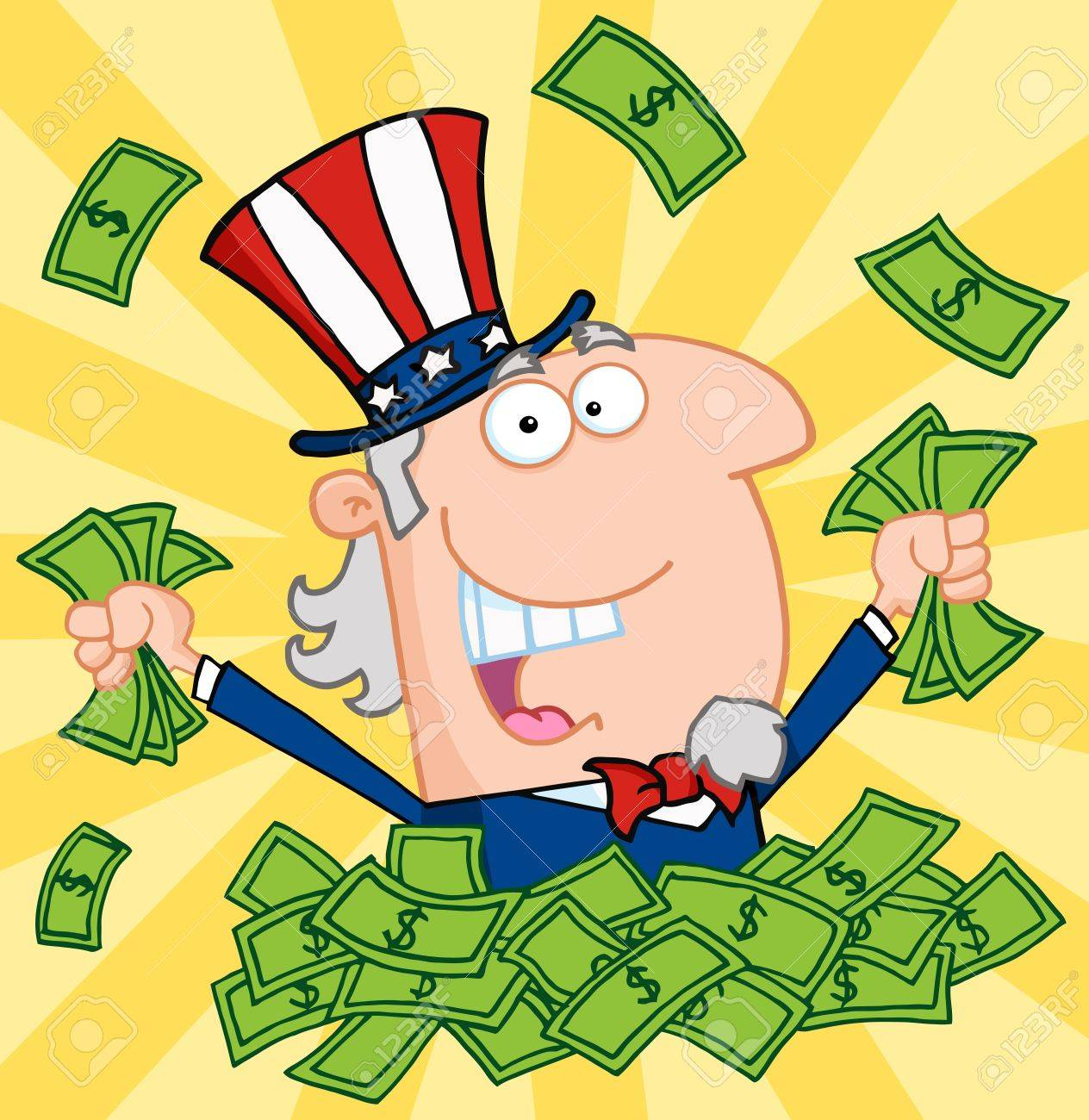 Image result for uncle sam is rich