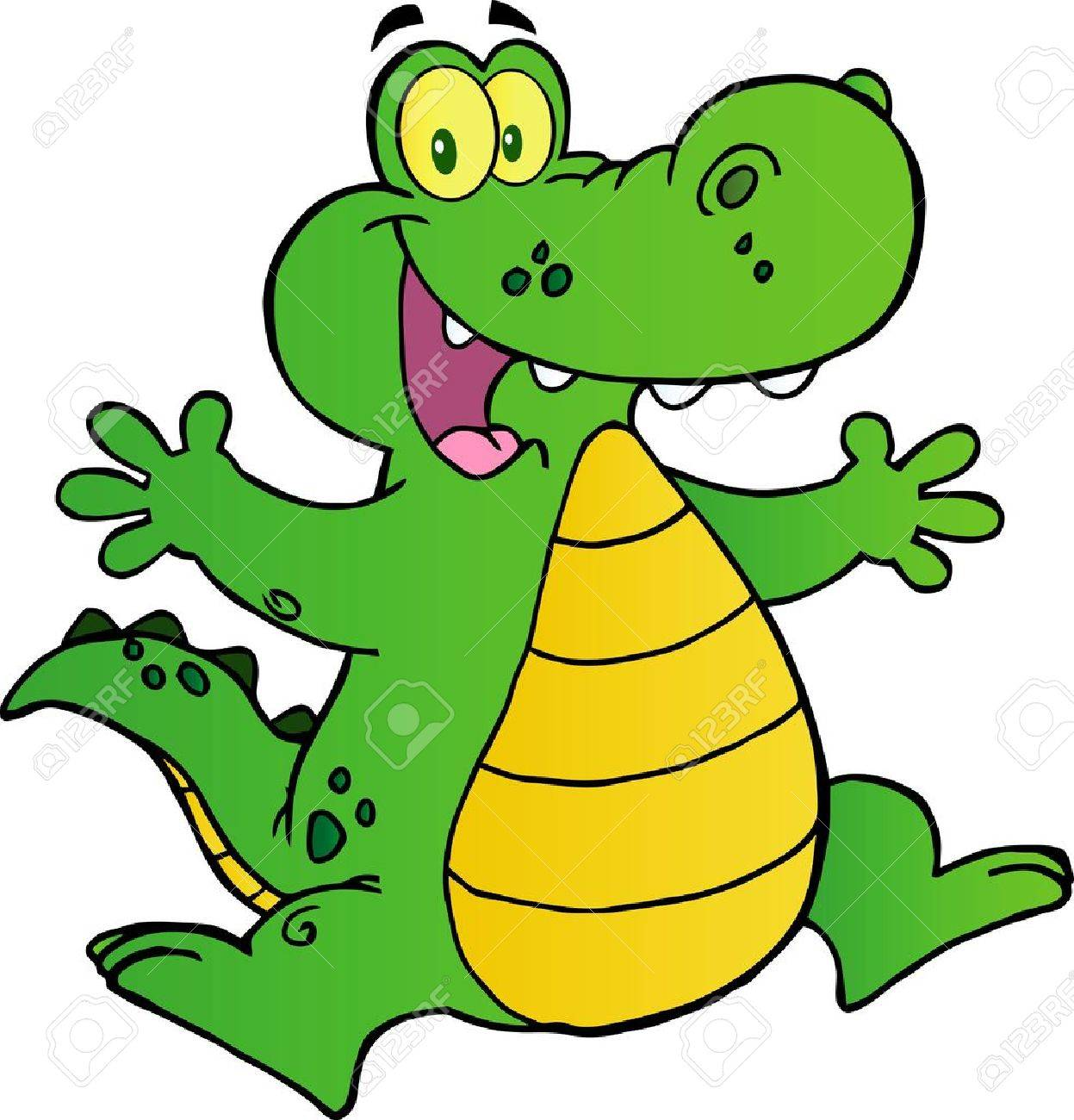Happy Alligator Jumping Stock Vector - 12145719