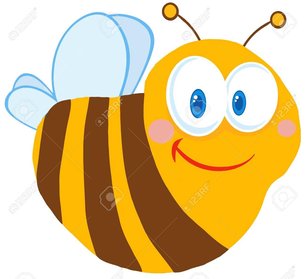 Cute Bee Cartoon Character Stock Vector - 12352726