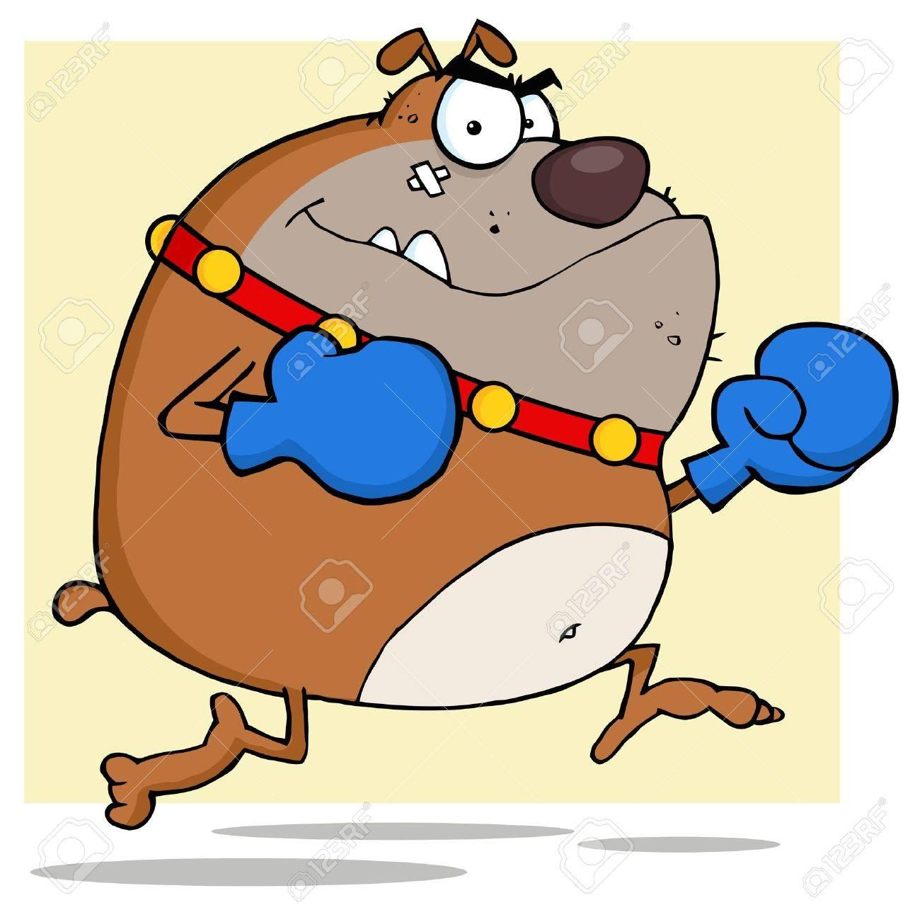 Brown Bulldog Boxer Stock Vector - 12352906