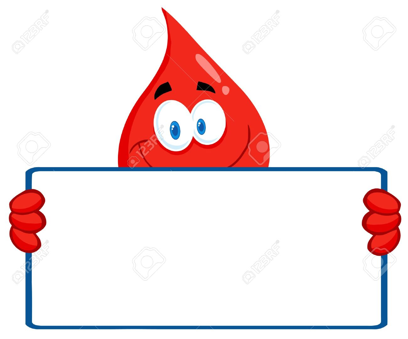 blood guy holding a blank sign royalty free cliparts vectors and rh 123rf com blood drive clipart free blood donation clipart images