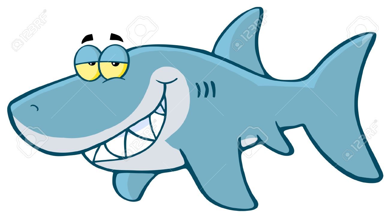shark images cartoon  Happy Shark Cartoon Character Royalty Free Cliparts, Vectors, And ...