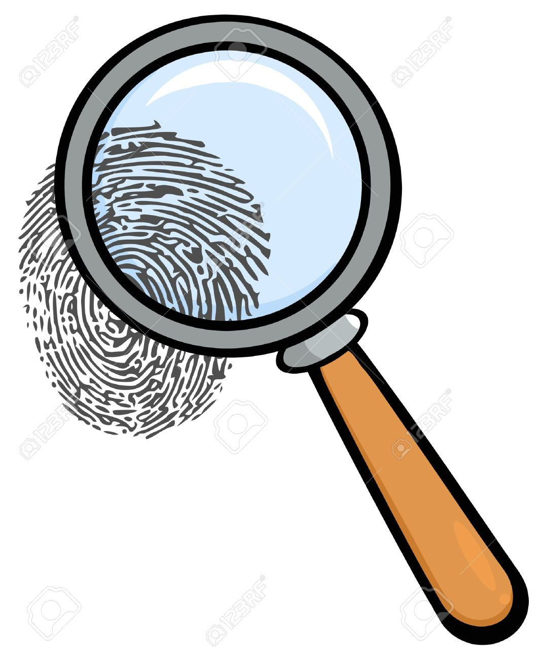 magnifying glass with fingerprint royalty free cliparts vectors rh 123rf com magnifying glass clipart free magnifying glass clipart transparent background