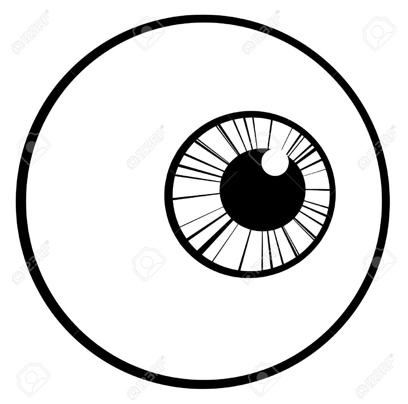 outlined eye ball royalty free cliparts vectors and stock rh 123rf com eyeball vector free download cartoon eyeball vector