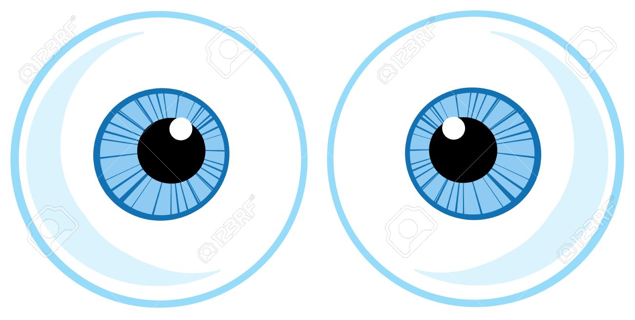 Two Blue Eye Balls Stock Vector - 12493508
