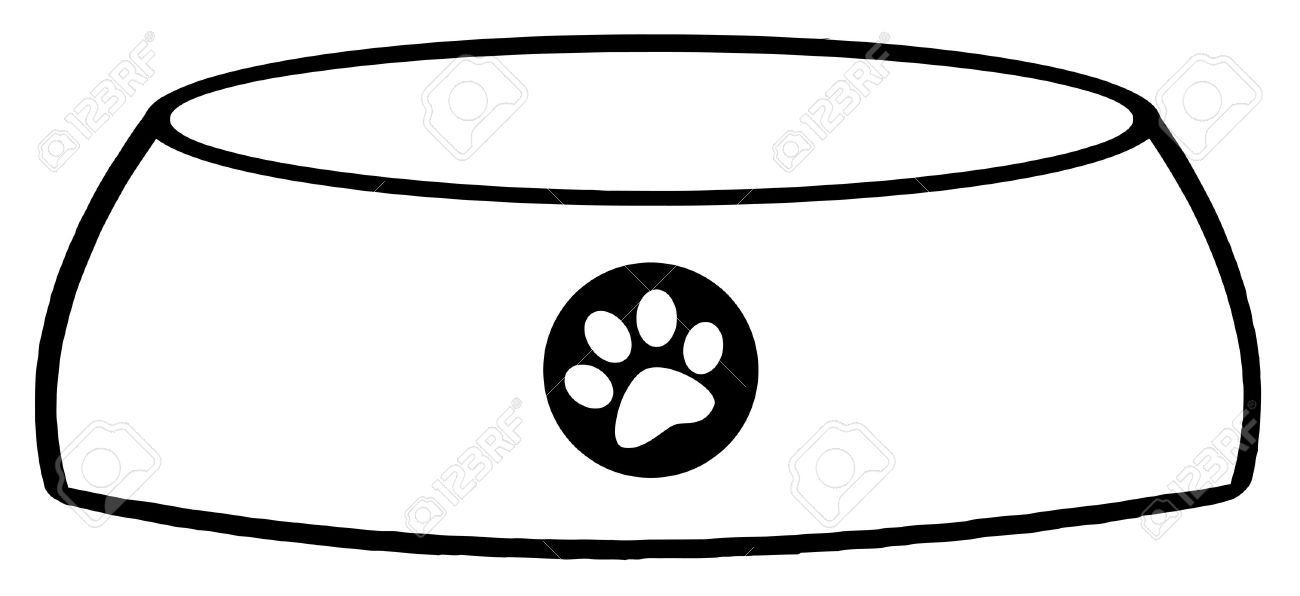 outlined empty dog bowl royalty free cliparts vectors and stock rh 123rf com  free clipart dog bone borders