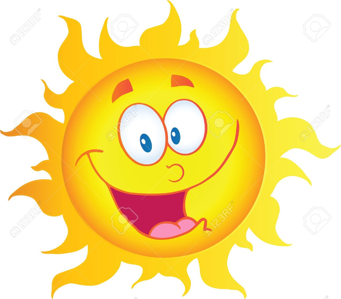 happy sun cartoon character royalty free cliparts vectors and rh 123rf com cartoon pictures of the sun and moon cartoon pictures of the sun