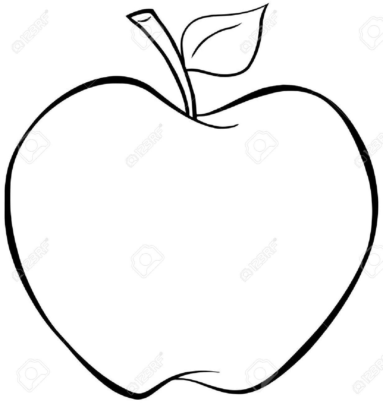 Dessin Pomme pomme de dessin animé présenté clip art libres de droits , vecteurs