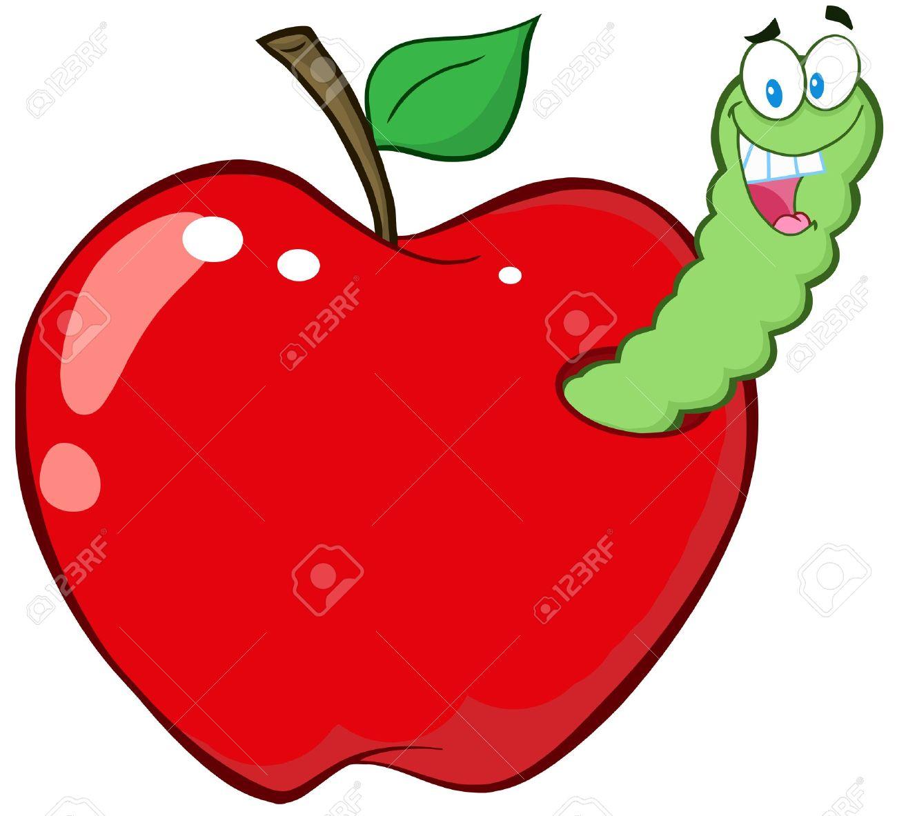 Apple Worm Clipart