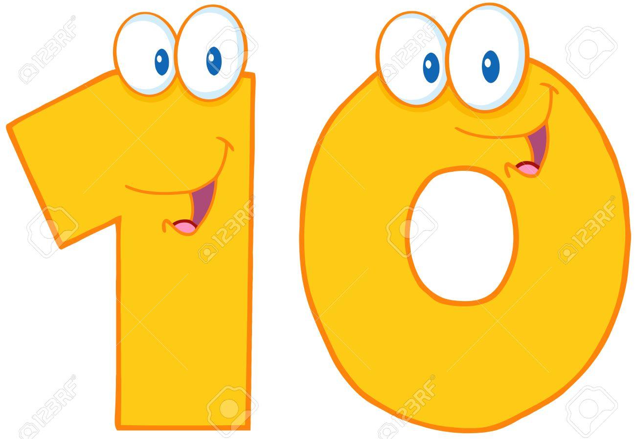 Number Ten Cartoon Character Stock Vector - 15220225