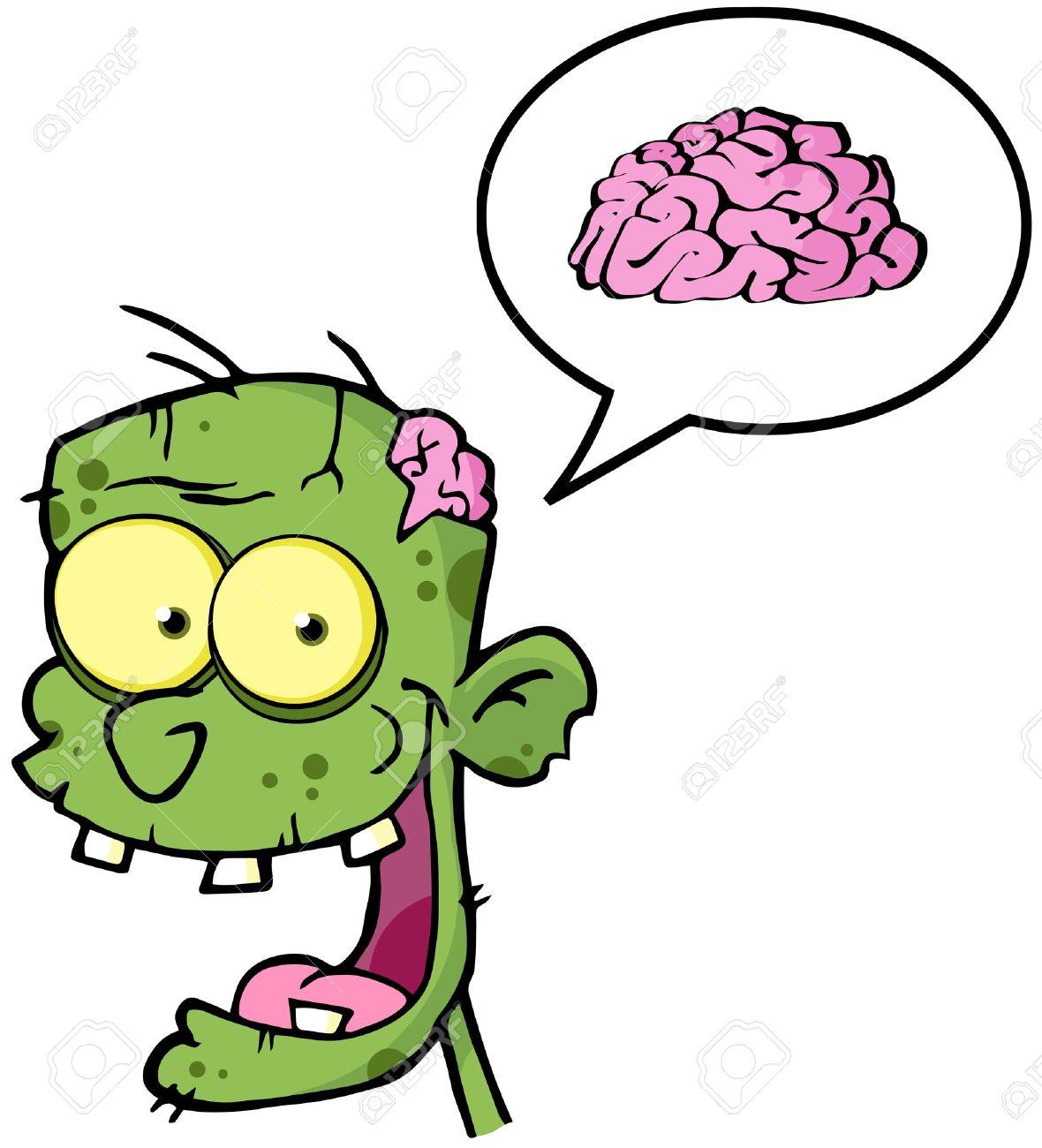 Zombie Brain Zombie Head