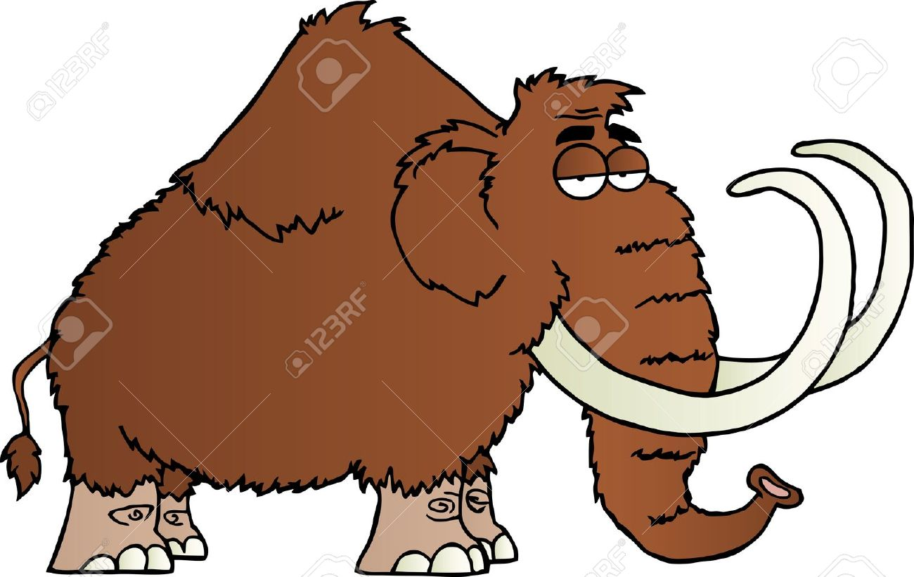 Mammoth Cartoon Character Stock Vector - 15393614