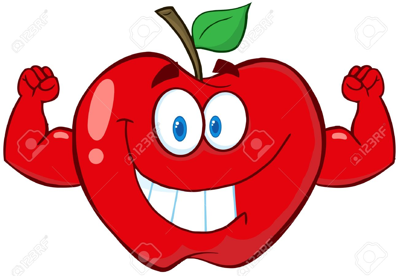 apple cartoon mascot character with muscle arms royalty free rh 123rf com apple cartoon pics apple pie cartoon