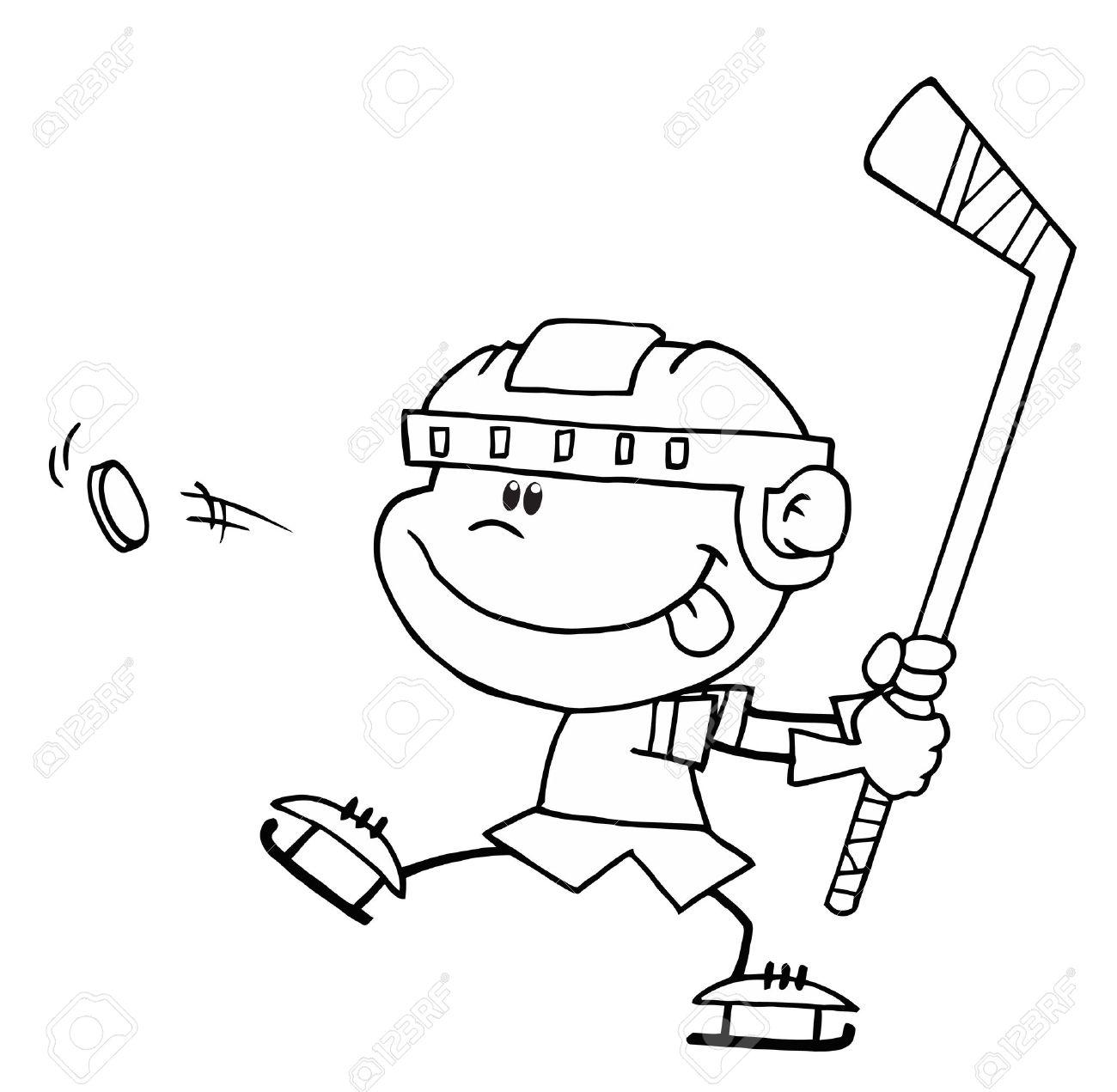 Excelente Libre De Hockey Para Colorear Embellecimiento - Dibujos ...