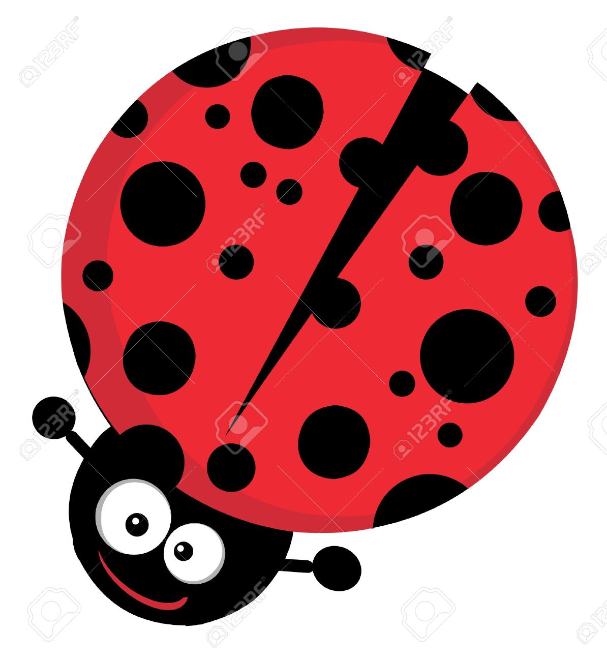 Lady Bug Cartoon Character Stock Vector   16446199
