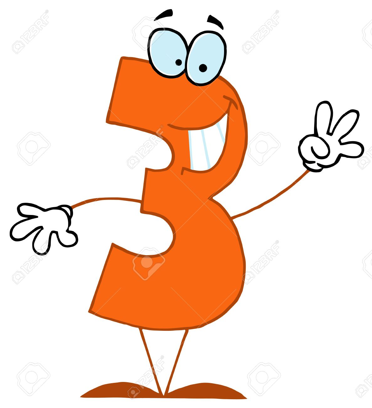 Image result for number 3 cartoon pics
